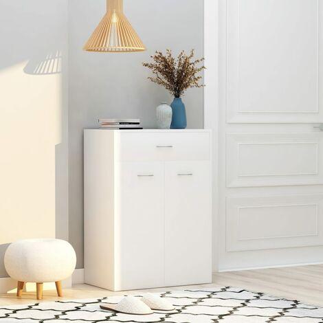 Shoe Cabinet White 60x35x84 cm Chipboard - White