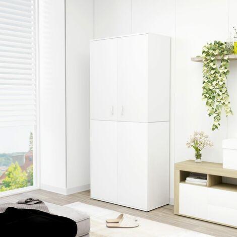Shoe Cabinet White 80x39x178 cm Chipboard