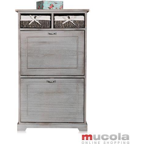 Shoe Cupboard Shoe Rack Shoe Shelf Cupboard Floorboards Commode Shabby Chic Grey