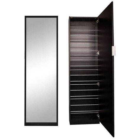 Shoe cupboard Shoe shelf Shoe tipper Mirror cupboard black Shoe chest