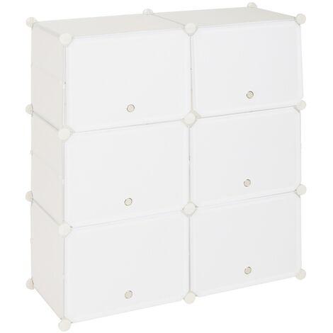 Shoe Rack 5 Tier 10 Grids White,Shoe Cabinet Portable Storage Unit for Entryway 80x30x90cm