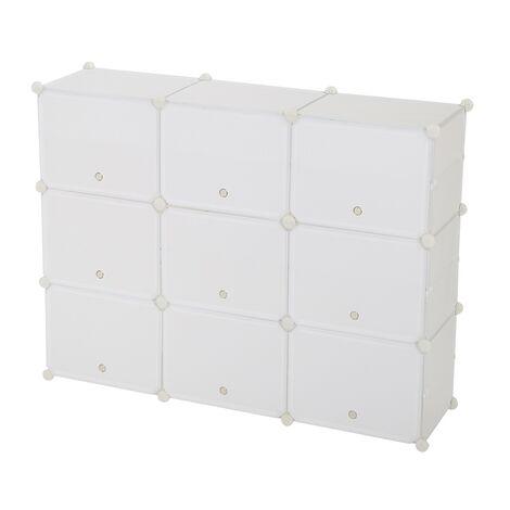 Shoe Rack 5 Tier 15 Grids White,Shoe Cabinet Portable Storage Unit for Entryway 120x30x90cm