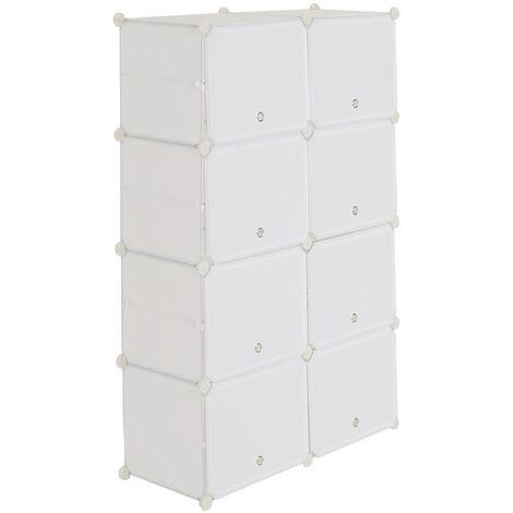 Shoe Rack 7 Tier 14 Grids White,Shoe Cabinet Portable Storage Unit for Entryway 80x30x120cm
