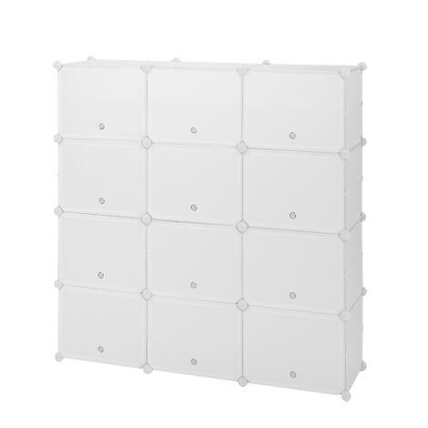 Shoe Rack 7 Tier 21 Grids White,Shoe Cabinet Portable Storage Unit for Entryway 120x30x120cm