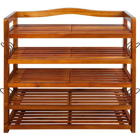 "main image of ""Shoe Rack Acacia Wood Storage Organiser Wooden"""