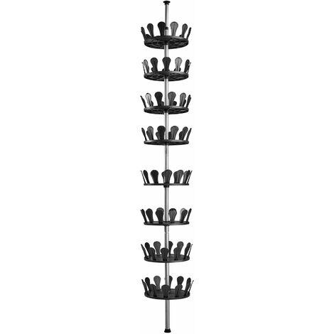 Shoe rack carousel - tall shoe rack, shoe organiser, shoe stand - black - black