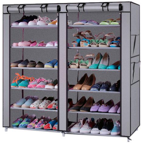 Shoe Rack Shelf Storage Closet Organizer Cabinet Lightweight 6 Layer 12 Grid - Different colours