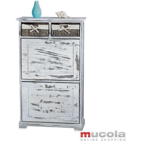 shoe rack shoe shelf wardrobe chest of drawers sideboard wardrobe folding doors used look