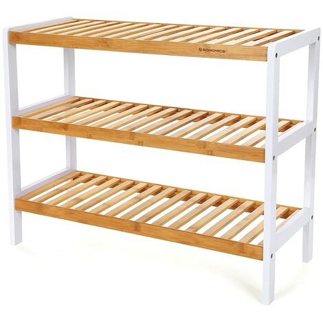 Shoe Rack Stand Organizer Storage 3 Tier for 9 pair shoes 80 x 30 x 50cm LBS03N
