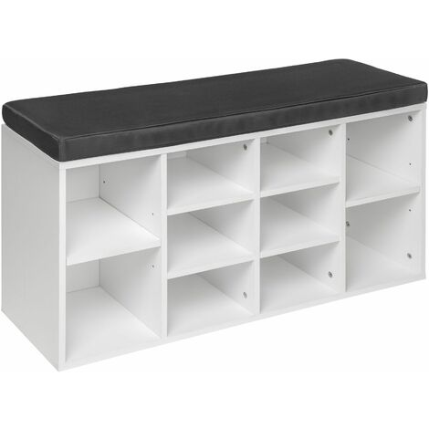 Shoe rack with bench - shoe cabinet, shoe cupboard, shoe storage cabinet