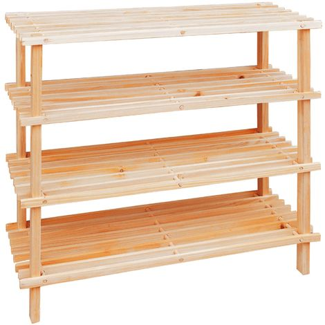 Shoe Rack,Wooden,4 Tier