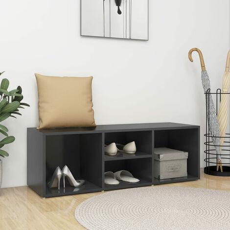 "main image of ""Shoe Storage Bench Grey 105x35x35 cm Chipboard"""