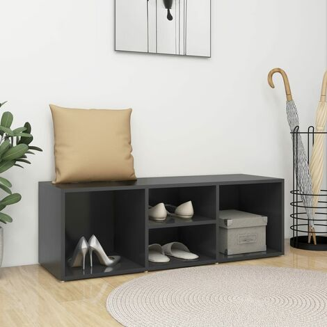 """main image of """"Shoe Storage Bench Grey 105x35x35 cm Chipboard37225-Serial number"""""""