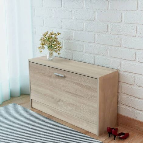 Shoe Storage Bench Oak 80x24x45 cm - Brown