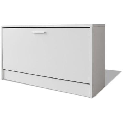 Super Shoe Storage Bench White 80X24X45 Cm Dailytribune Chair Design For Home Dailytribuneorg