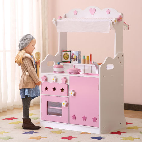 Shopping Kitchen White/Pink with Mini Accessories