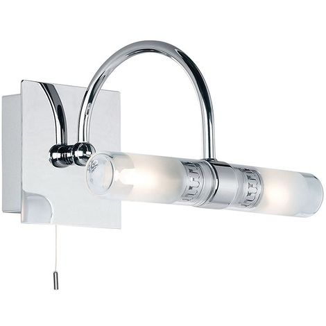Shore curved IP44 33W SW wall - chrome plate