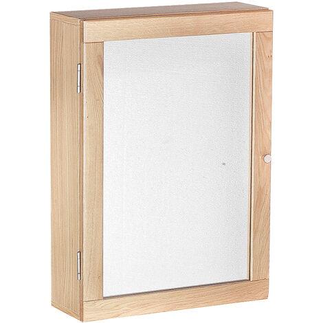 Shore Wall Mirrored Cabinet Oak