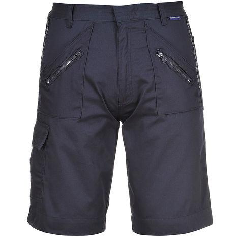 Short Bleu marine, Unisexe, tour de taille: L, en Polycoton 36 → 38pouce