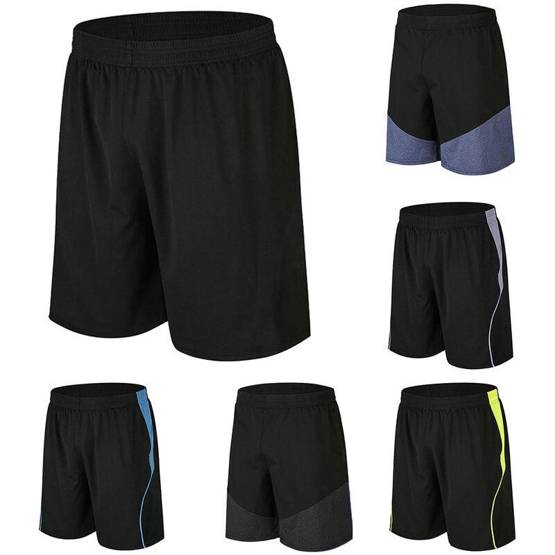 Asupermall - Short De Sport Homme, Sechage Rapide Et Respirant, Noir, Taille S