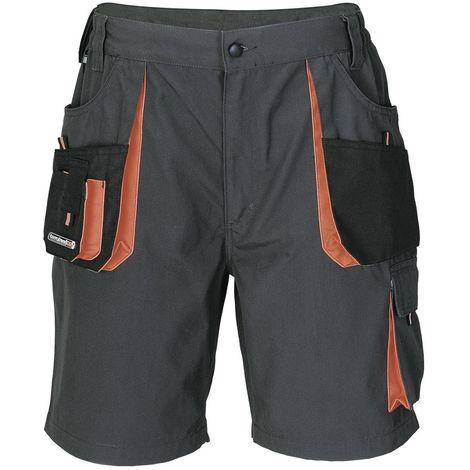 Short de travail - Gris-Noir-Orange - Homme