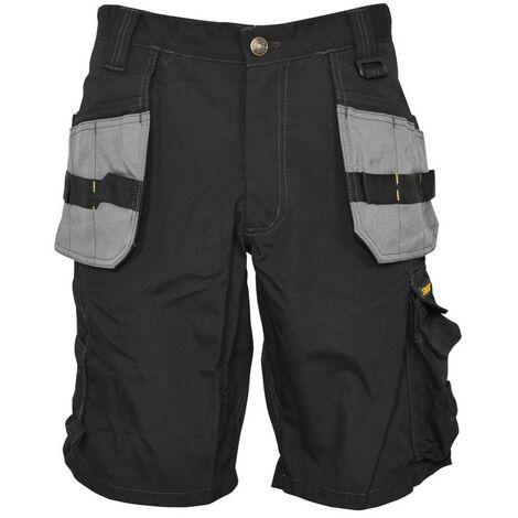 Short noir multi-poches grises-Stanley