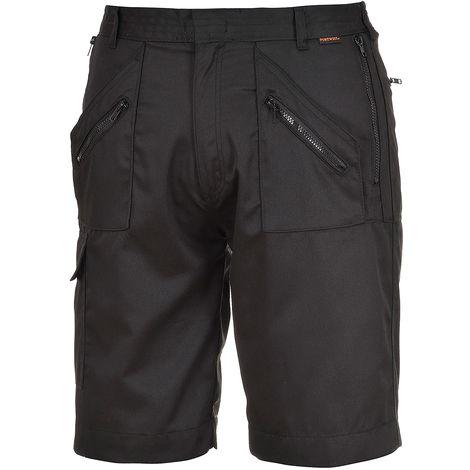 Short Noir, Unisexe, tour de taille: L, en Polycoton 36 → 38pouce