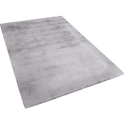 Short Pile Light Grey Rug 140x200 cm GESI