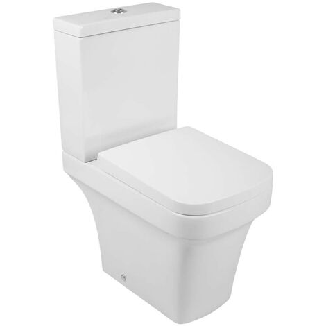 Short Projection Close Coupled Bathroom Toilet Cistern Soft Close Seat Compact Cloakroom WC