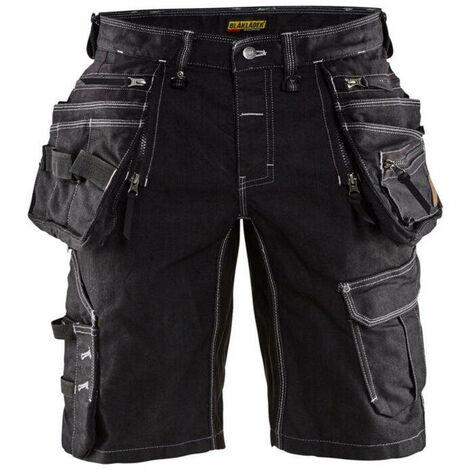 Short X1900 artisan Stretch 2D - 9900 Noir - Blaklader
