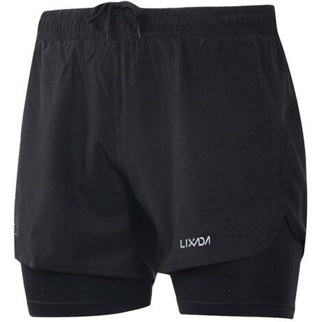 Shorts de running 2 en 1 para hombre Lixada, con forro mas largo