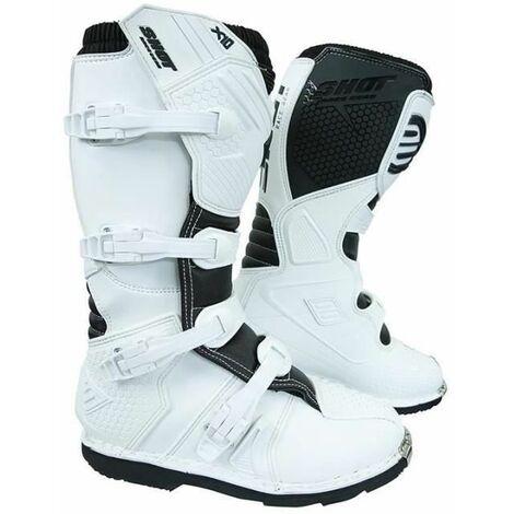 SHOT Bottes moto-cross X10 - Homme - Blanc