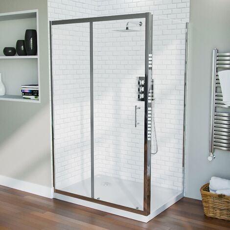 Shower 1200mm Sliding Door with 700 mm Frameless Glass Side Panel Screen