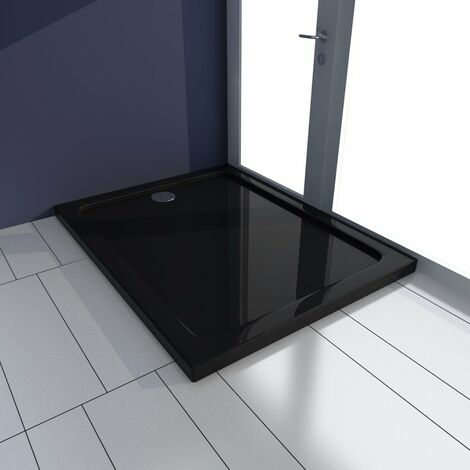 Shower Base Tray ABS Black 70x100 cm