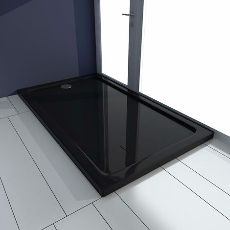Shower Base Tray ABS Black 70x120 cm