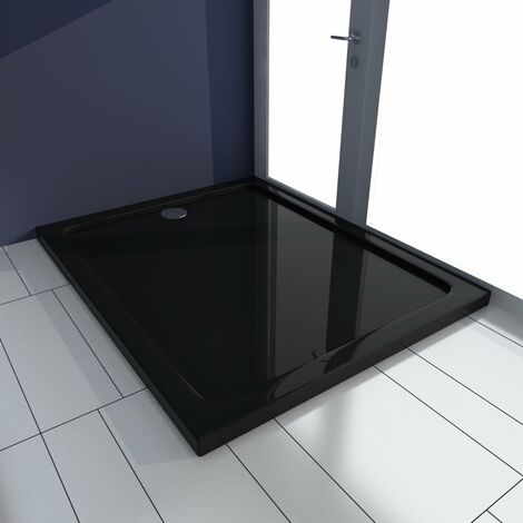 Shower Base Tray ABS Black 80x100 cm