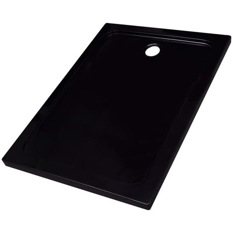 Shower Base Tray ABS Black 80x110 cm