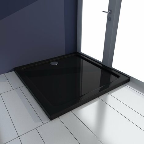 Shower Base Tray ABS Black 80x80 cm