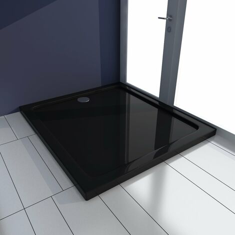 Shower Base Tray ABS Black 80x90 cm