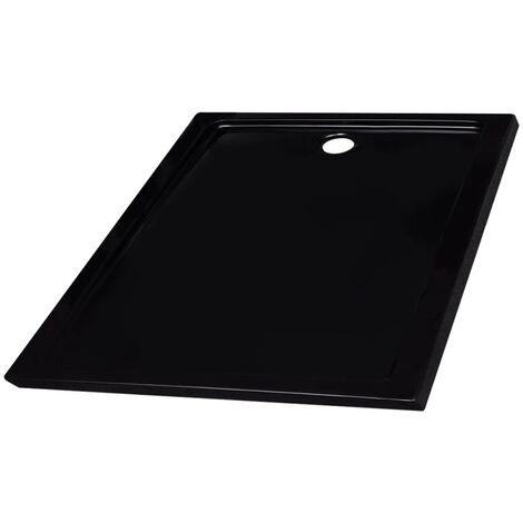 Shower Base Tray ABS Black 90x90 cm