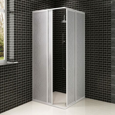 Shower Cabin Enclosure PP Board Aluminium Frame Rectangular 80 x 90 cm