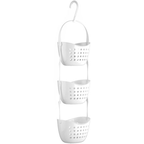 Shower Caddy,3 Tier,White PP