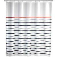 Shower Curtain 180x200 Marine white Poly WENKO