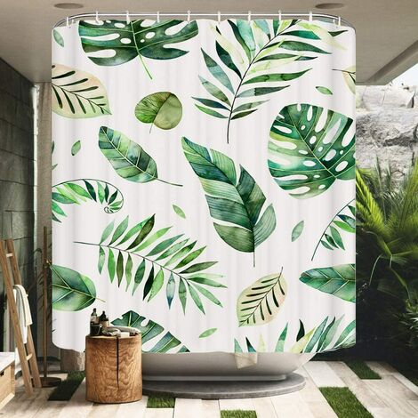 """main image of """"Shower Curtain 180x200cm Waterproof Mildew Resistant Polyester Fabric 3D Effect Bathtub Curtains with Hooks Shower Curtains for Home Bathroom"""""""