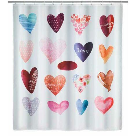 Shower curtain Love WENKO