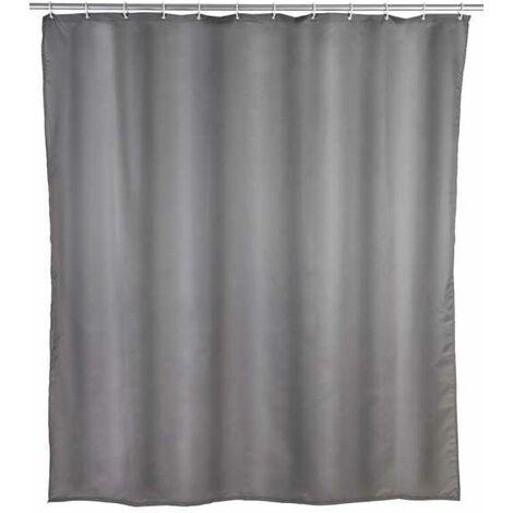 Shower curtain Plain grey WENKO