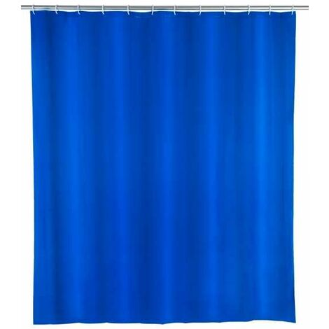 Shower curtain single-colour Night Blue WENKO
