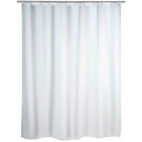 Shower curtain single-colour White WENKO