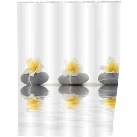 Shower curtain Stones with Flower WENKO