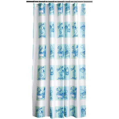Shower Curtain,Bathroom Design/Polyester,12 Plastic Hooks